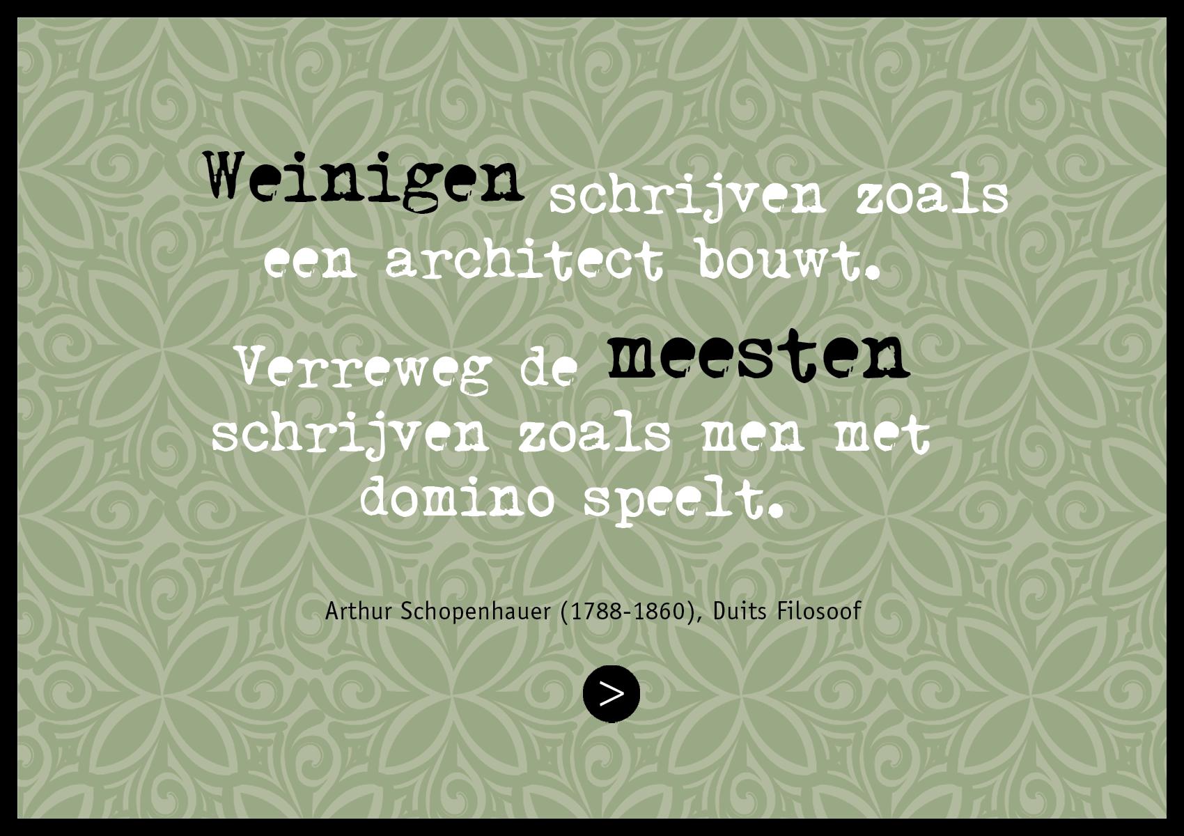 Advertentie met citaat Duits filosoof